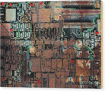Time For A Motherboard Upgrade 20130716 Wood Print by Wingsdomain Art and Photography