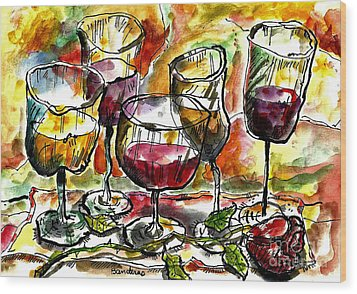 Time For Wine Tasting Wood Print