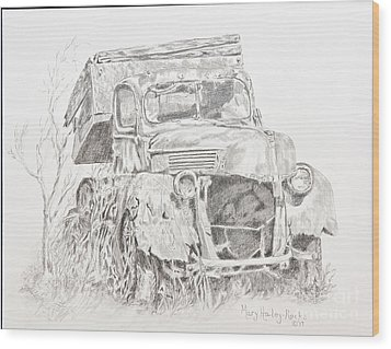 Time Forgotten Wood Print by Mary Haley-Rocks