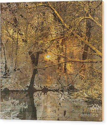 Time II Wood Print by Yanni Theodorou