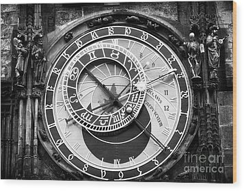 Time In Prague Wood Print by John Rizzuto