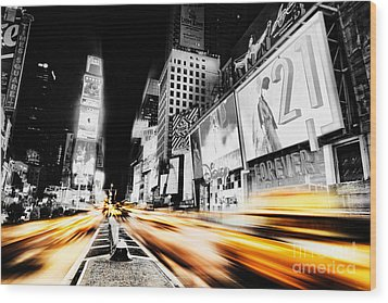 Time Lapse Square Wood Print by Andrew Paranavitana