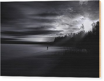 Time Left Behind Wood Print by Gary Smith