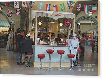 Time Out Snack Bar In Bath England Wood Print by Jack Schultz