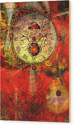 Time Passes Wood Print by Ally  White