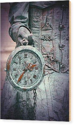 Time Time Time Wood Print by Jaroslaw Blaminsky