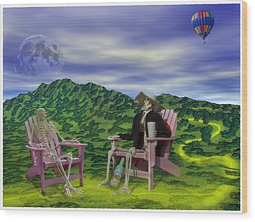 Time To Call A Doctor Wood Print by Betsy Knapp
