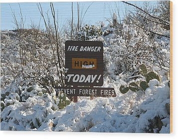 Wood Print featuring the photograph Time To Change The Sign by David S Reynolds