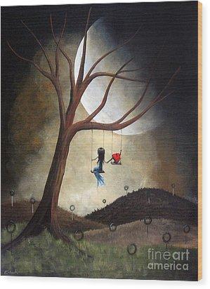 Time Together By Shawna Erback Wood Print by Shawna Erback