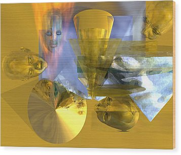 Time Travel #53_p Wood Print by Stephen Donoho