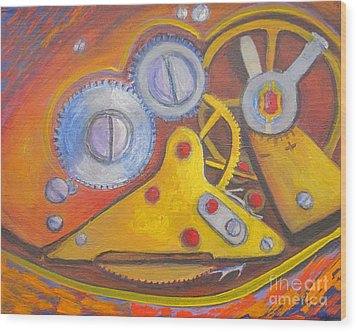 Time Unfolding Study Wood Print by Vivian Haberfeld
