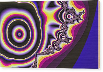Time Warp Wood Print by Betsy Jones