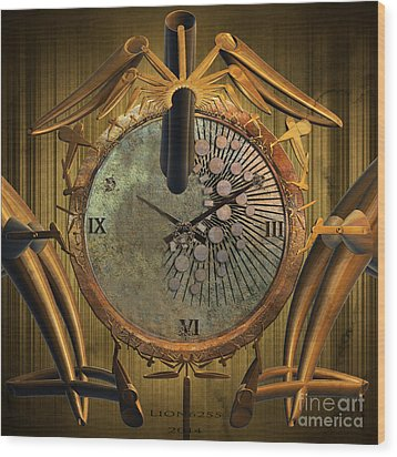 Time Will Move Forward Wood Print by Melissa Messick