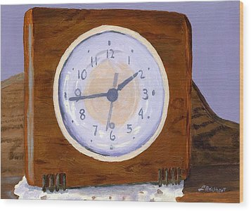 Wood Print featuring the painting Time Will Tell by Lynne Reichhart