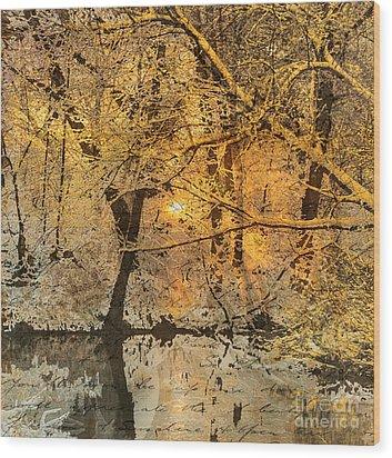 Time Wood Print by Yanni Theodorou