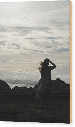 Wood Print featuring the photograph Timeless Celtic Sky by Ankya Klay