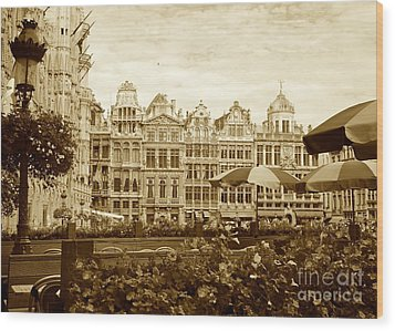 Timeless Grand Place Wood Print by Carol Groenen