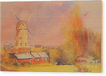 Wood Print featuring the painting Timeless Rye by Beatrice Cloake