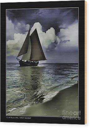 Timeless Sailingboat Wood Print