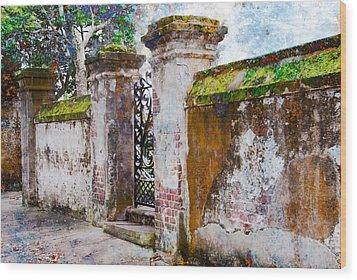 Brick Wall Charleston South Carolina Wood Print