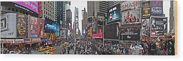 Times Square Wood Print by Aleksander Rotner