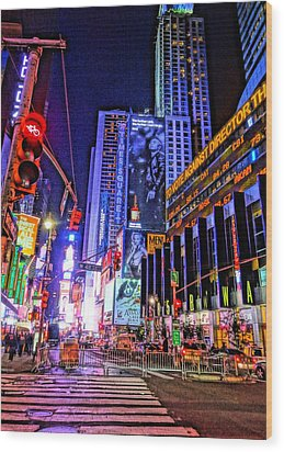 Times Square Wood Print by Dan Sproul