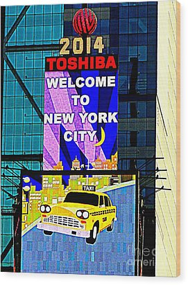 Times Square New Years Eve Ball Wood Print by Ed Weidman