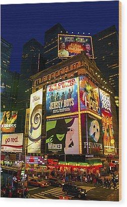Times Square Wood Print by Svetlana Sewell