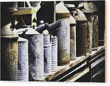 Tin Can Alley - Vintage Look Wood Print