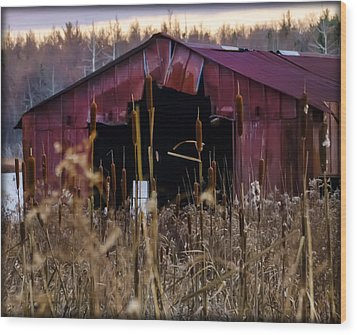 Tin Roof Rusted Wood Print by Bill Cannon