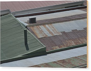 Tin Rooftops Of San Jose Wood Print