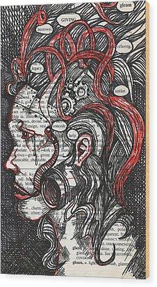 Tin Woman Wood Print by Stacey Pilkington-Smith