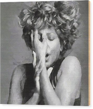 Tina Turner - Emotion Wood Print by Paulette B Wright