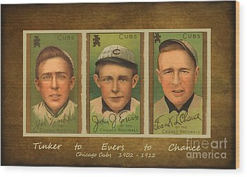 Tinker To Evers To Chance Wood Print