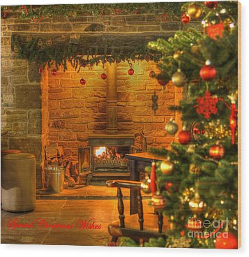 Tinsel And Fire Wood Print
