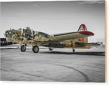 Tinted B17 Wood Print by Chris Smith