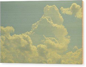 Tinted Cloud Wood Print by Kiros Berhane