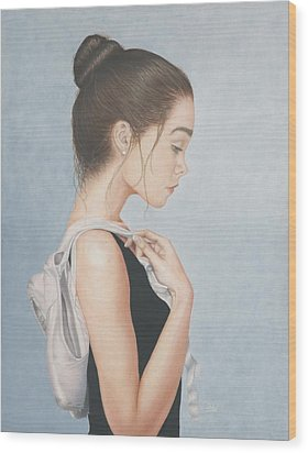Wood Print featuring the painting Tiny Dancer by Dee Dee  Whittle