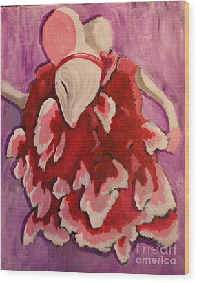Tiny Dancer Wood Print by Wendy Coulson