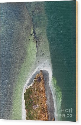 Tiny Island On The Saint-lawrence River Montreal Canada Wood Print