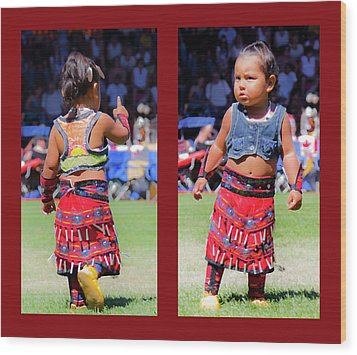 Tiny Jingle Dancer Wood Print by Theresa Tahara