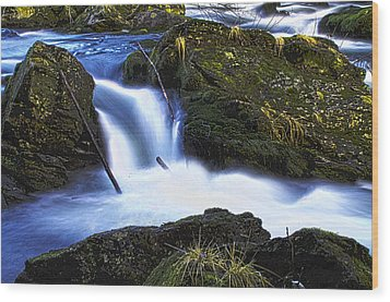 Wood Print featuring the photograph Tiny Water Fall by Timothy Latta