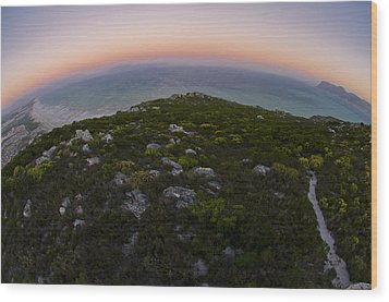 Tip Of The World Wood Print by Aaron Bedell