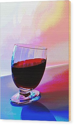 Wood Print featuring the photograph Tipsy by Ludwig Keck