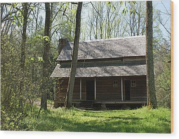 Tipton Place In Cades Cove Wood Print by Roger Potts