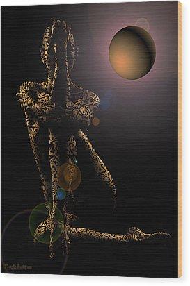 Tiptop Shape Night. 2013 60/80 Cm.  Wood Print by Tautvydas Davainis