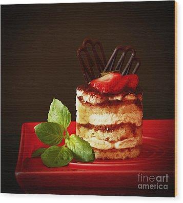 Tiramisu Dessert Passion Wood Print by Inspired Nature Photography Fine Art Photography