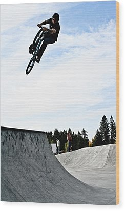 Tire Grab Wood Print by Joel Loftus