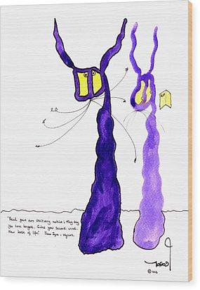 Tis Meets Ulysses Wood Print by Tis Art