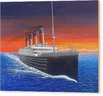 Titanic Wood Print by David Linton